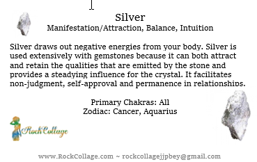 Collage Stone: Silver