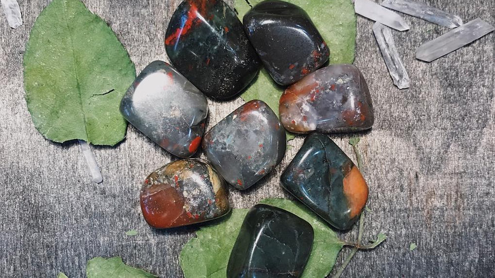 African Bloodstone Tumbled