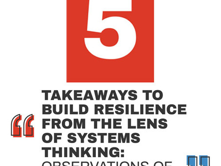 5 Takeaways to Build Resilience From the Lens of Systems Thinking: Observations of Singapore