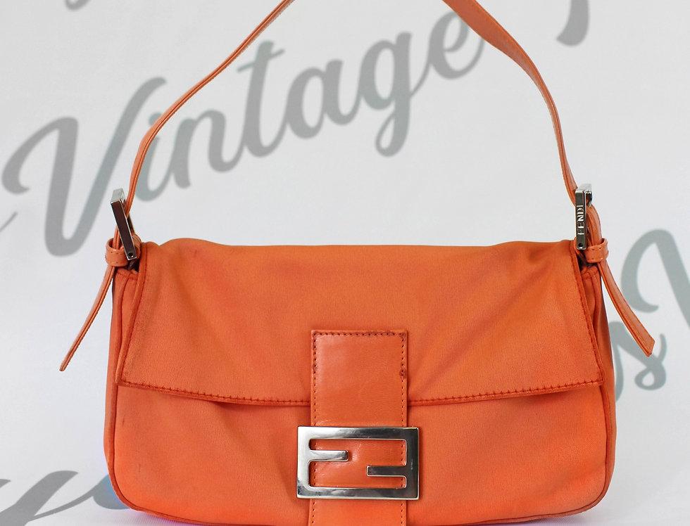 Fendi Bright Orange Baguette Handbag