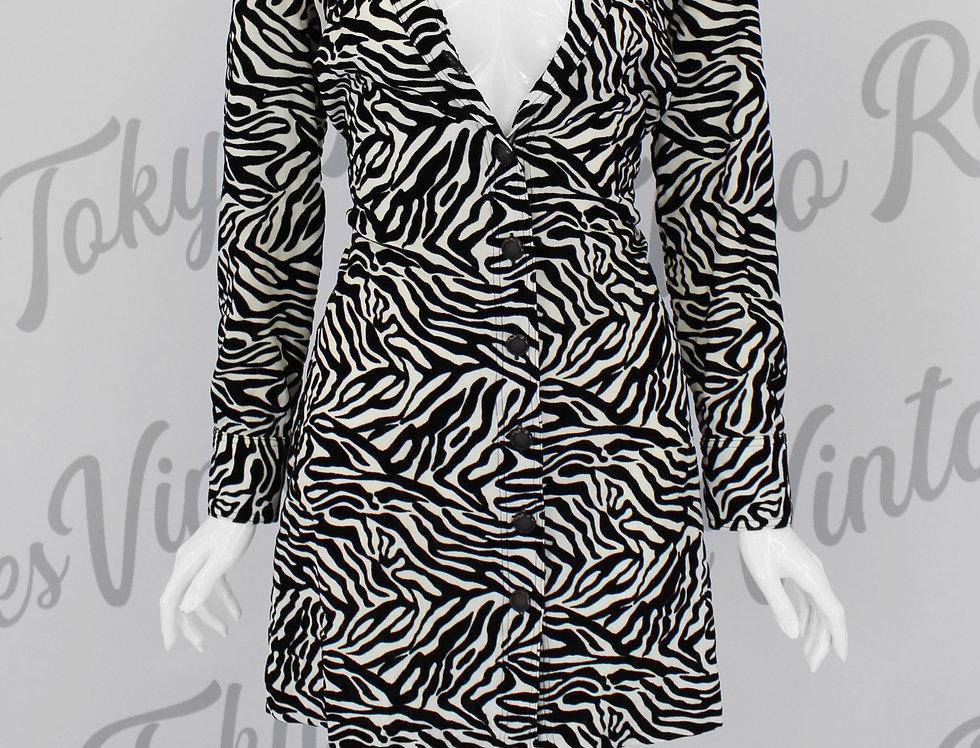 Vintage Versace Zebra Print Coat Dress