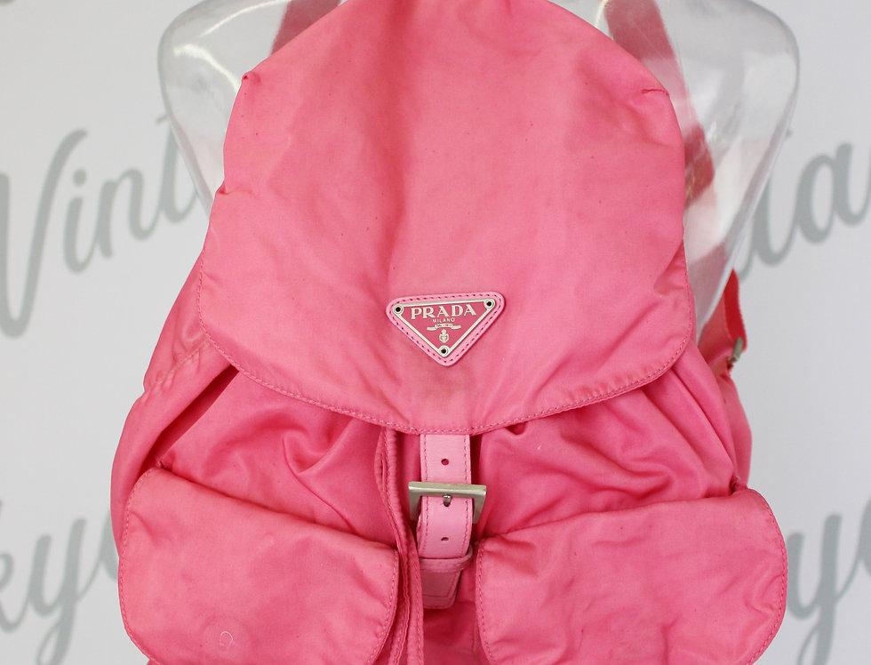Vintage Prada Nylon Backpack Bright Pink