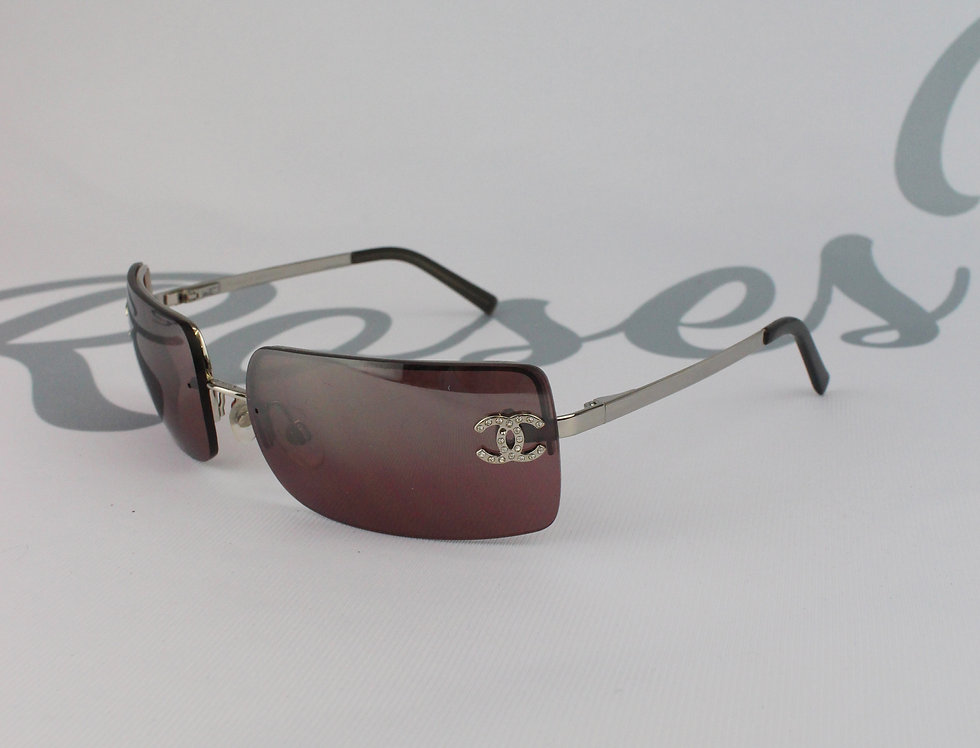 Chanel Black Sunglasses Rhinestone Glasses D