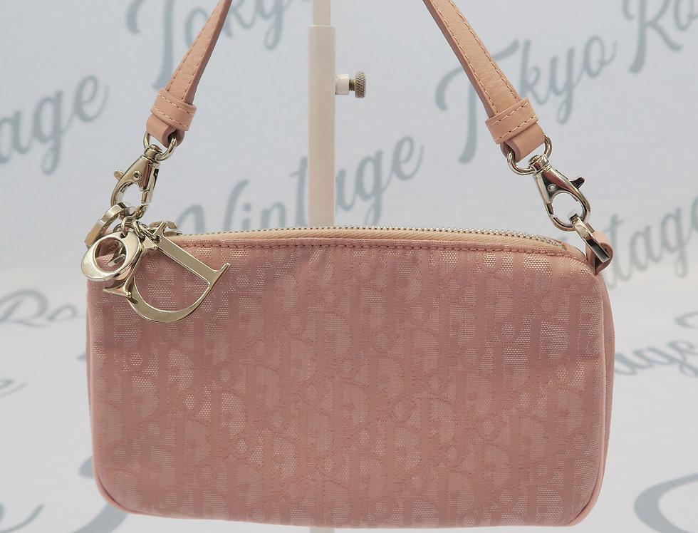 Pink Christian Dior Mini Bag Logo Monogram Trotter