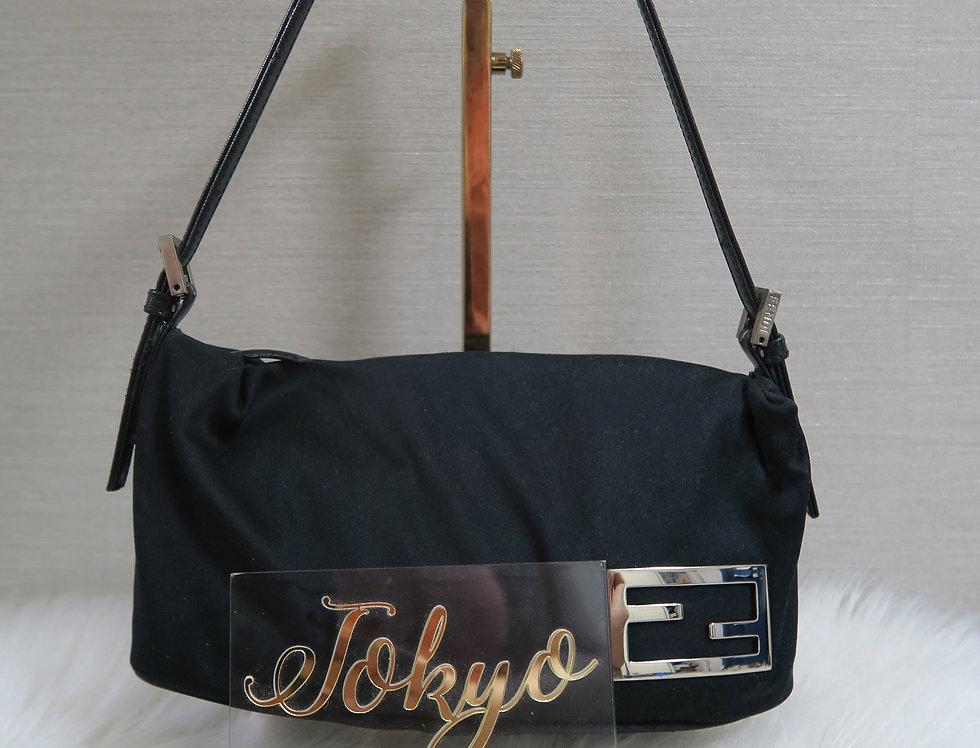 Vintage Fendi Baguette Handbag Metal Logo Mini bag