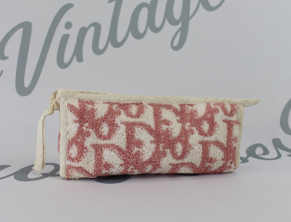 Christian Dior Terry Towel Trotter Pouch Pink