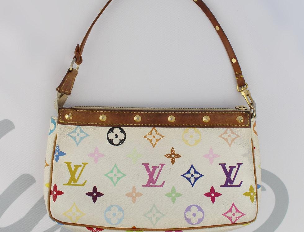 Louis Vuitton White Multi Color Shoulder Bag Mini