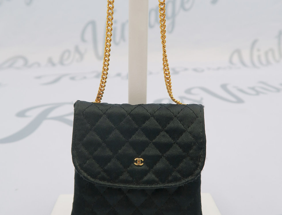 Chanel Micro Mini Chain Bag - Black