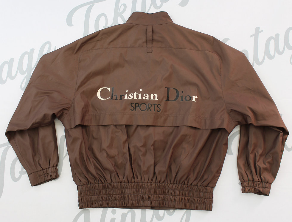 Christian Dior Sports Brown Windbreaker Jacket Nylon