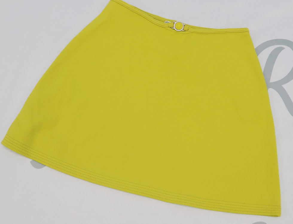 Neon Yellow Versace Mini Skirt Medusa