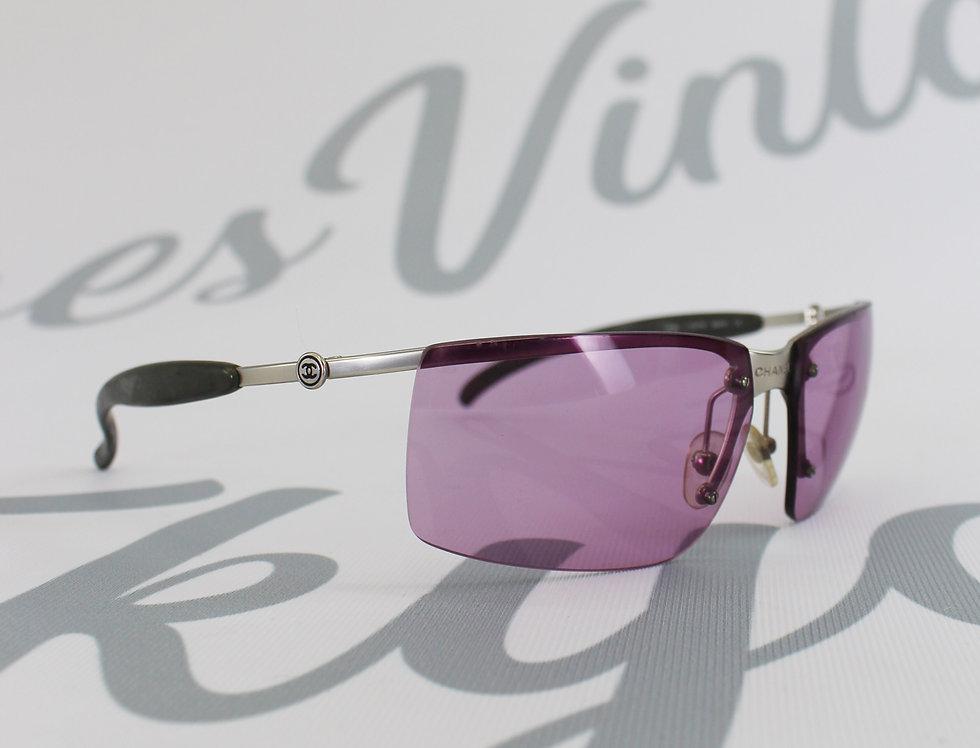 Purple Chanel Sunglasses Center Logo Rare