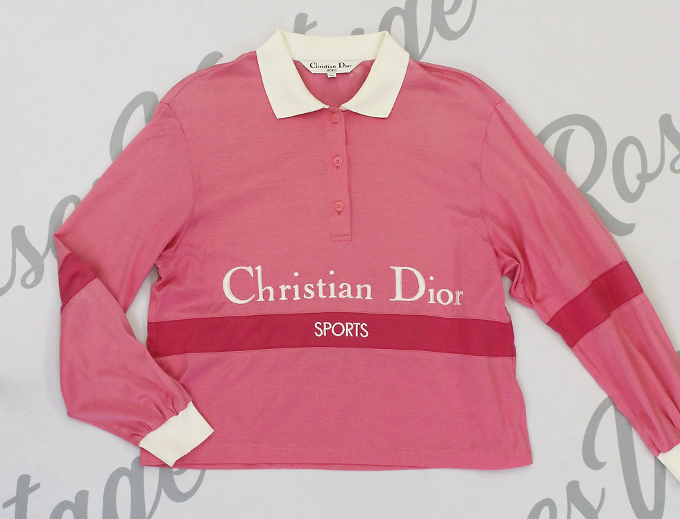 Christian Dior Sports Pink White Polo Shirt