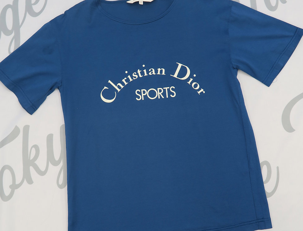 Christian Dior Sports Blue Short Sleeve T Shirt
