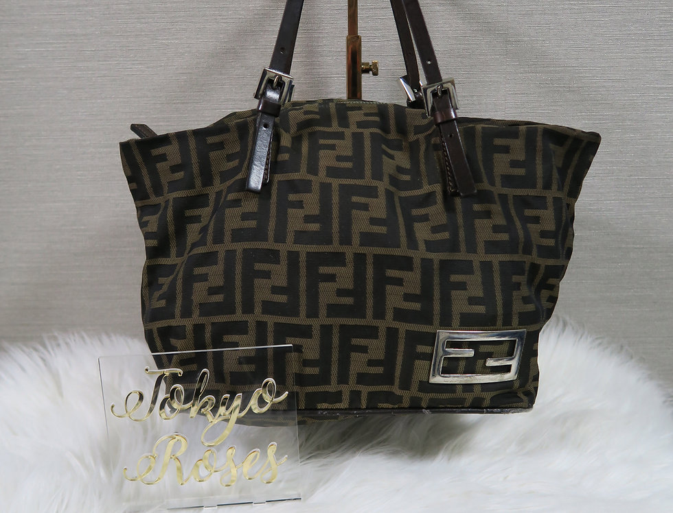 Fendi Handbag FF Logo Monogram Print Bag