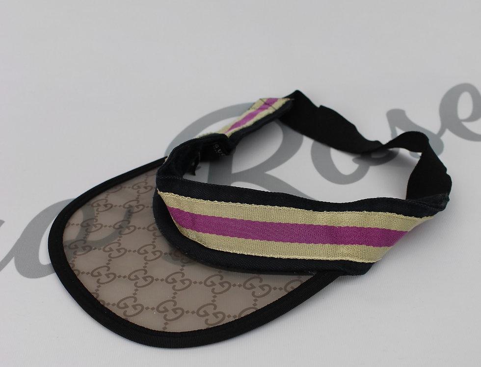 Vintage Gucci Transparent GG Monogam Logo Visor Hat