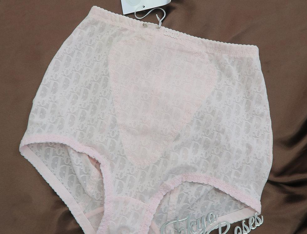 Christian Dior Pink High Waist Briefs Underwear NEW w Tags