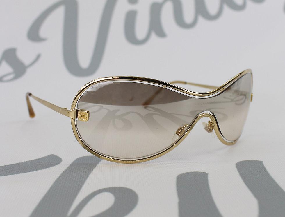 Chanel Floating Gold Frame Shield Glasses