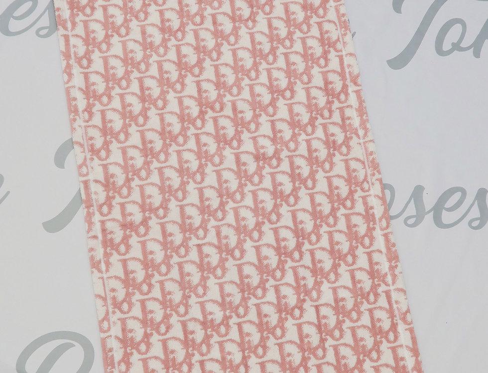 Christian Dior Pink Trotter Logo Monogram Towel XL Jumbo