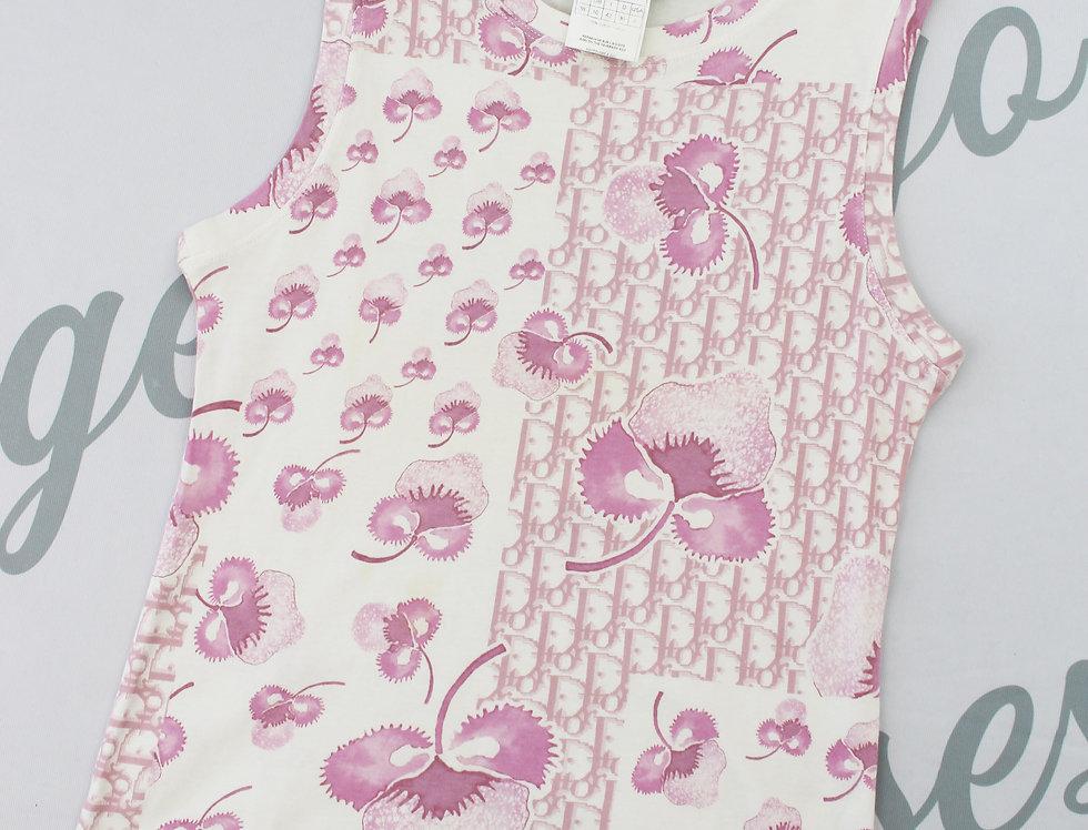 Christian Dior Pink Girly Monogram Trotter Tank Top US6