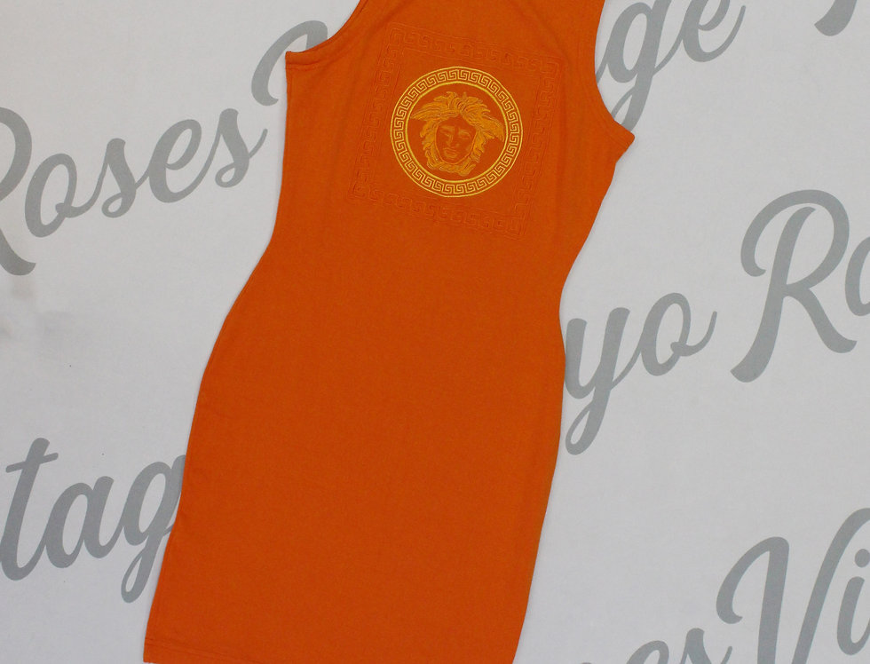 Versace Jeans Couture Sleeveless Dress Medusa Logo Chest