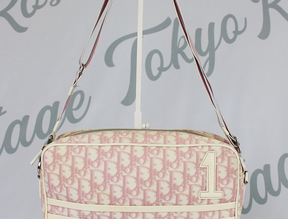 Christian Dior Pink Coated Canvas Crossbody Bag Trotter Logo Monogram