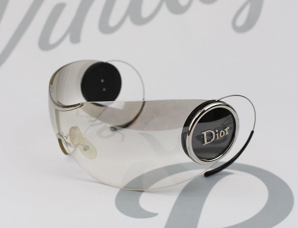 Vintage Christian Dior Shield Sunglasses Rare Logo Side Glasses