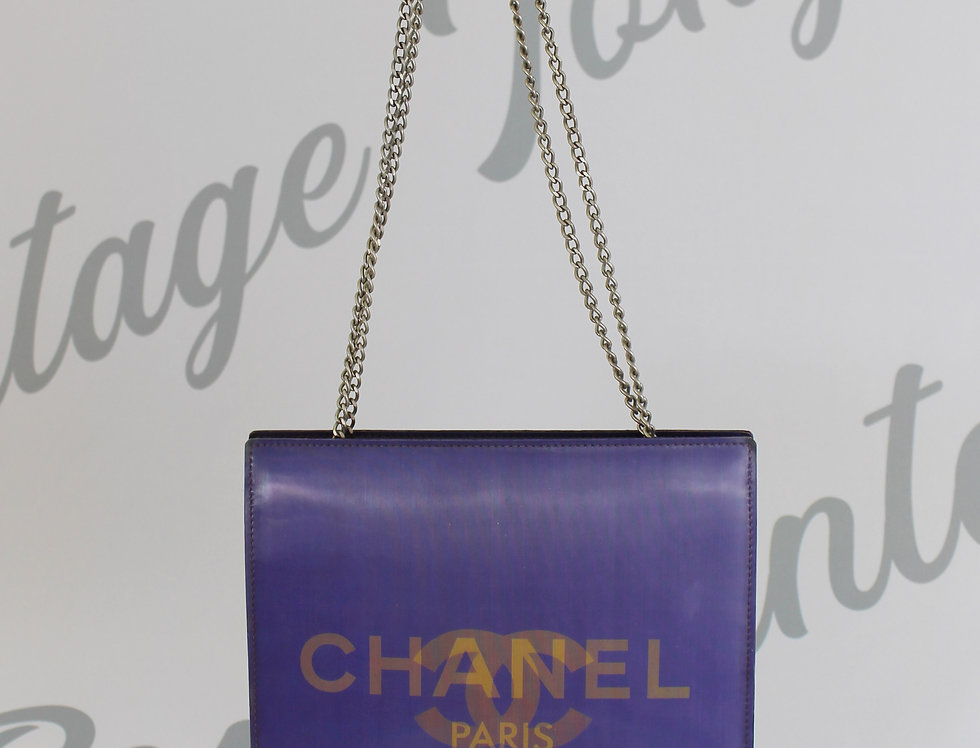 Purple Holographic CC Chanel Bag 3D Handbag Party Bag