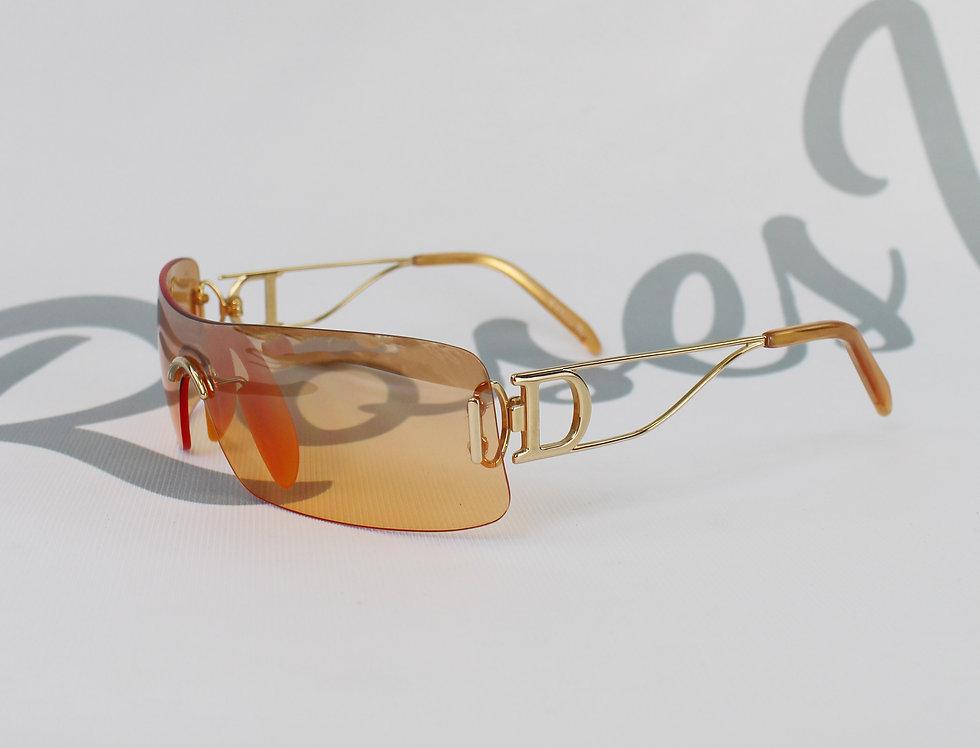 Christian Dior Gold Tone Side D Silver Sunglasses