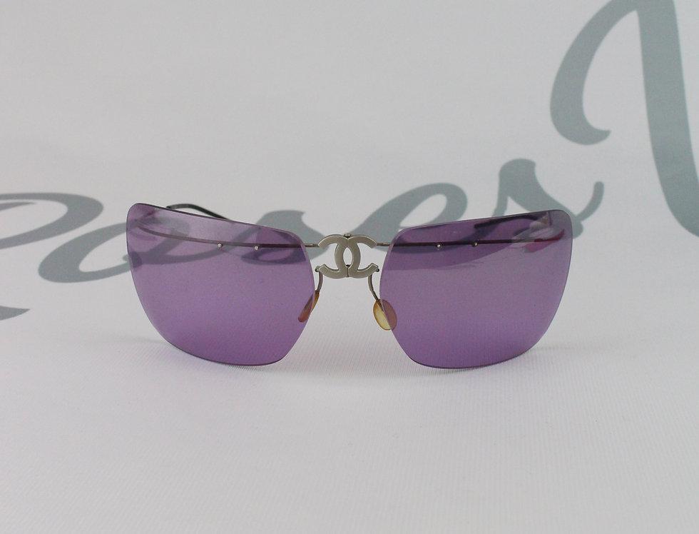 Chanel Purple CC Logo Sunglasses L