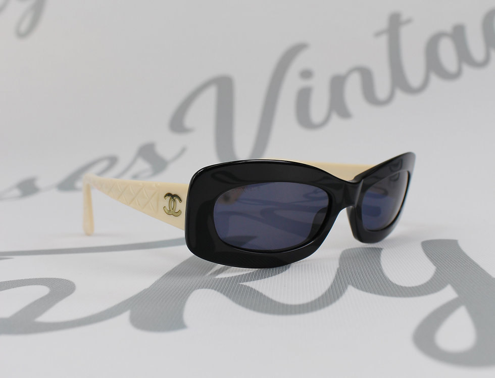 Chanel Quilted Sunglasses  CC Side