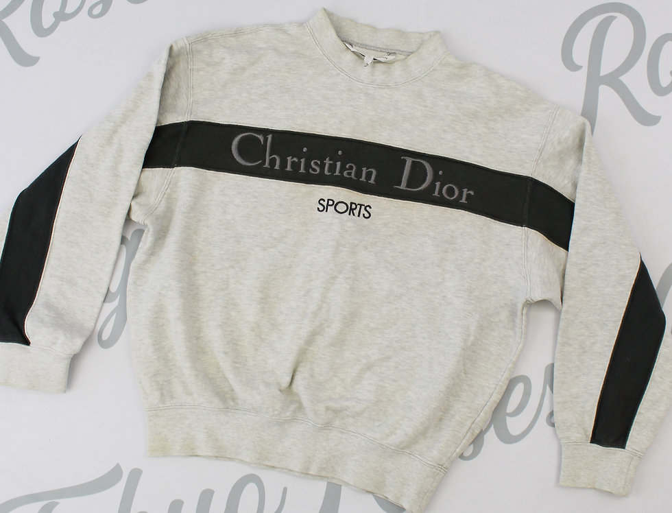 Christian Dior Sports Grey Sweatshirt