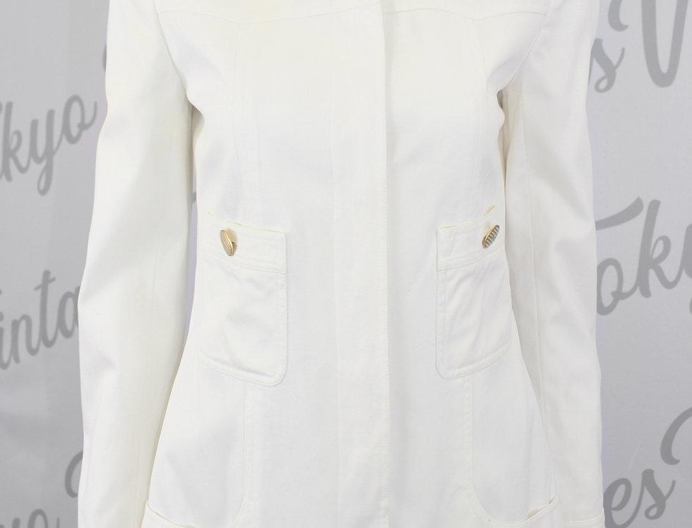 Vintage Chanel Eggshell White Long Sleeve Jacket