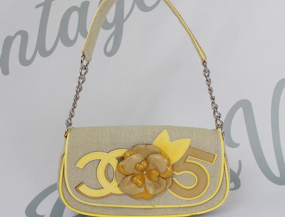 Chanel No 5 Camilla Flower Logos Yellow Mini Bag