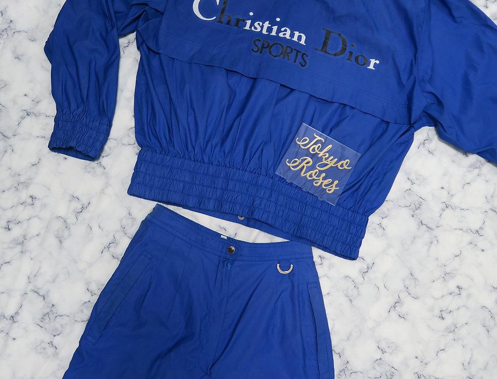 Blue Christian Dior Sports Jacket & Pants Set