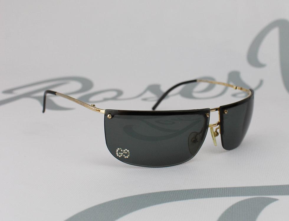 Gucci Black Rhinestone GG Logo Lens Glasses