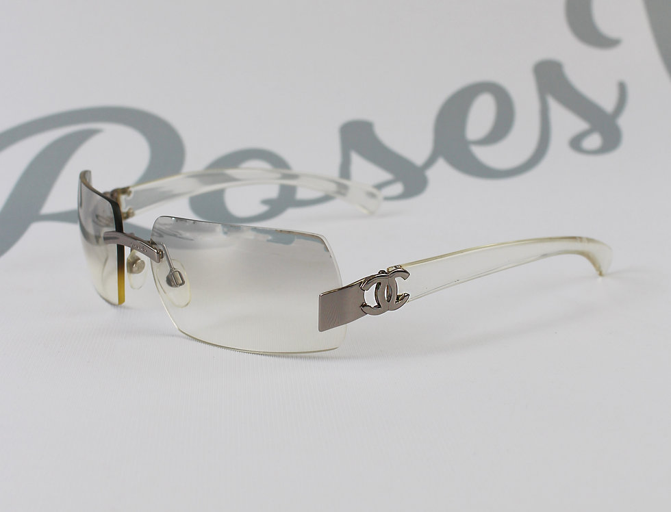 Vintage Chanel Clear Sunglasses 2000s Glasses S