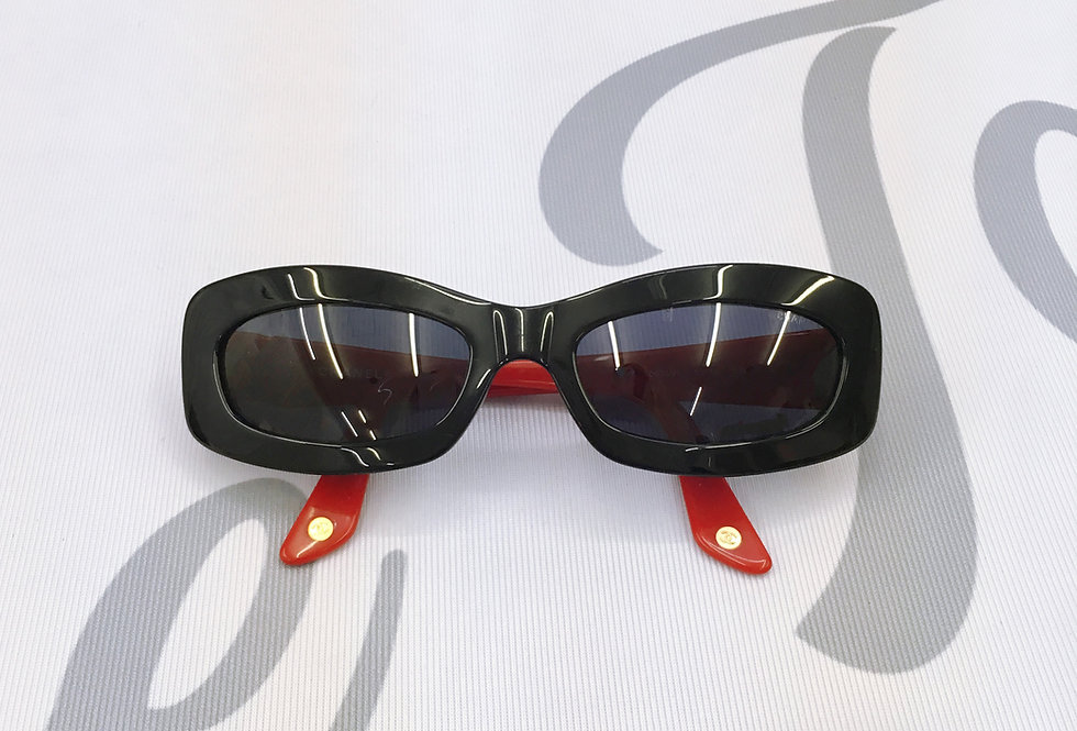 Vintage Chanel Red & Black Sunglasses