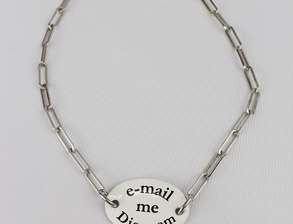 "J'adore Dior Necklace ""Email Me"""