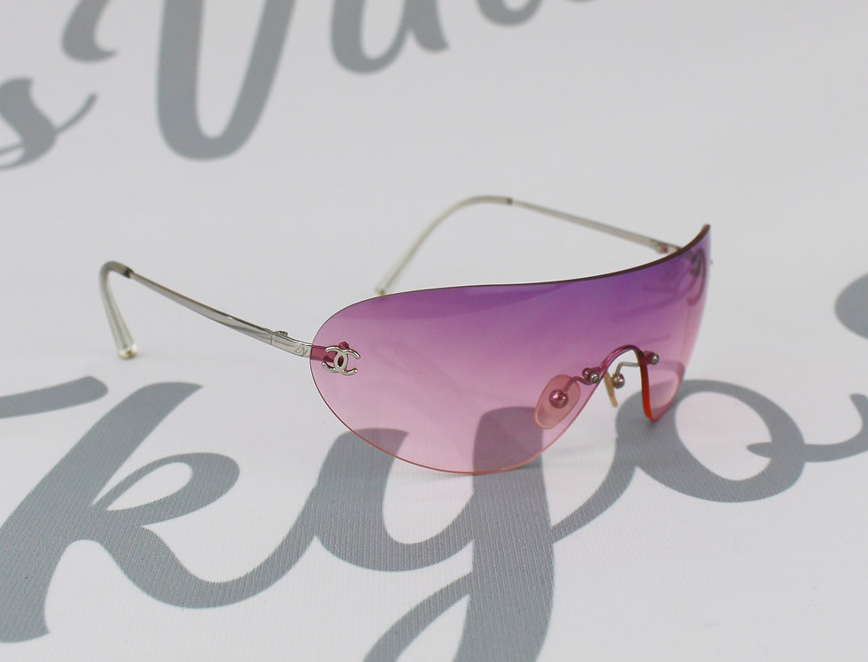 Chanel Purple to Pink Shield Sunglasses