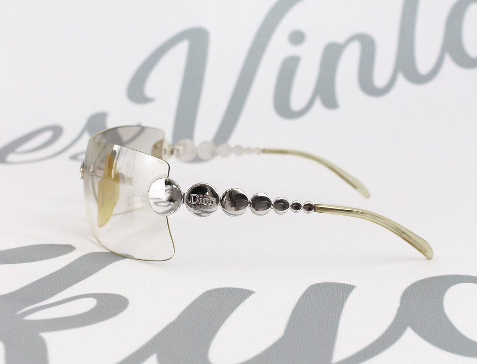 Dior Clear Rimless Glasses Silver Arms