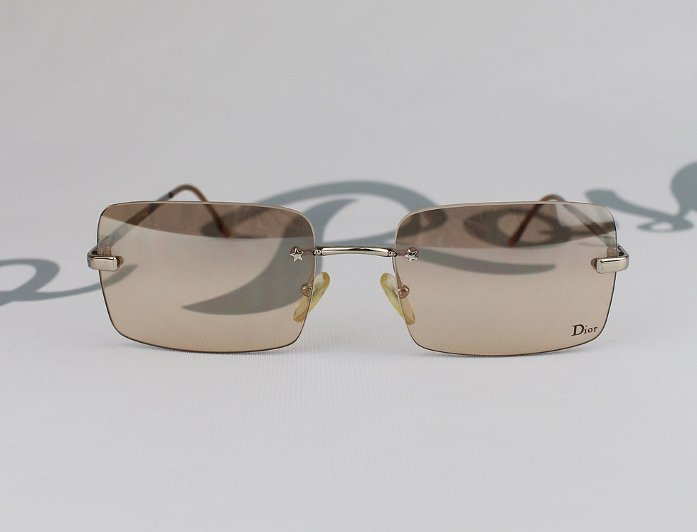 Christian Dior Logo Lens Tinted Glasses Rare Sunglasses