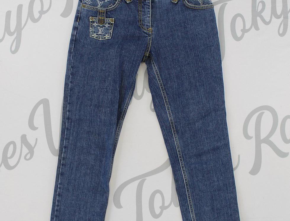 Louis Vuitton Logo Monogram Pocket Jeans