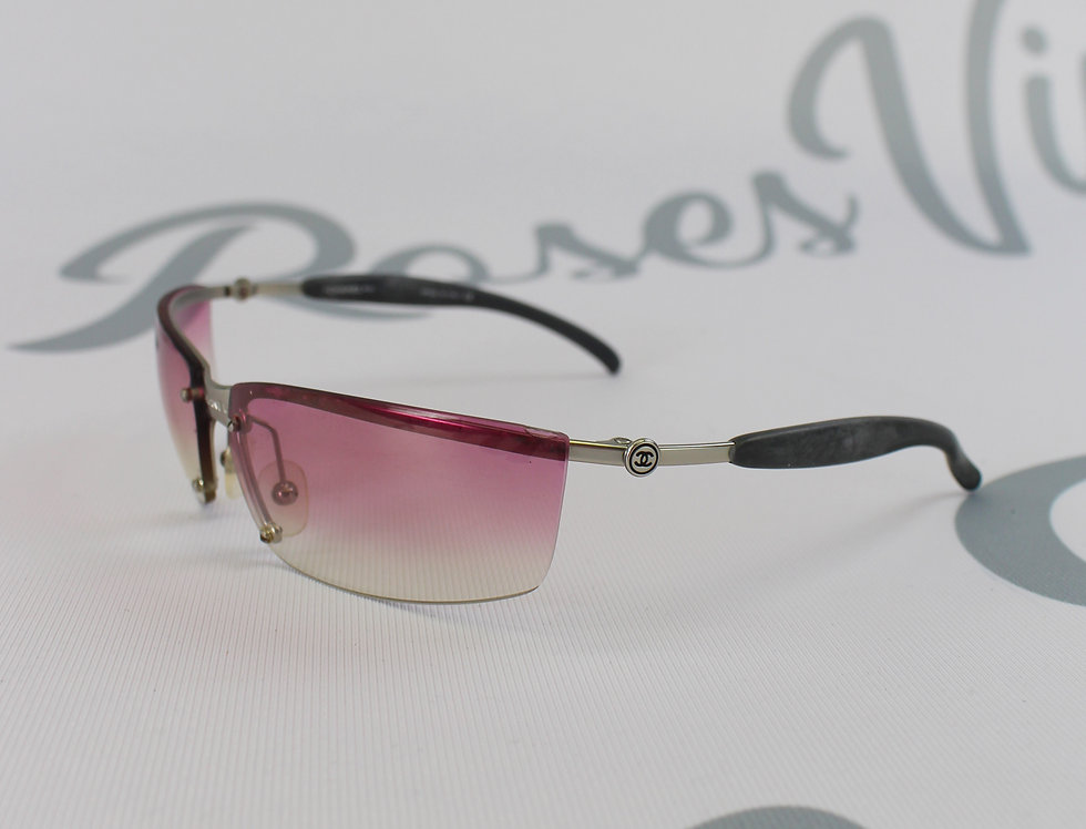 Pink Chanel Sunglasses Center Logo Rare