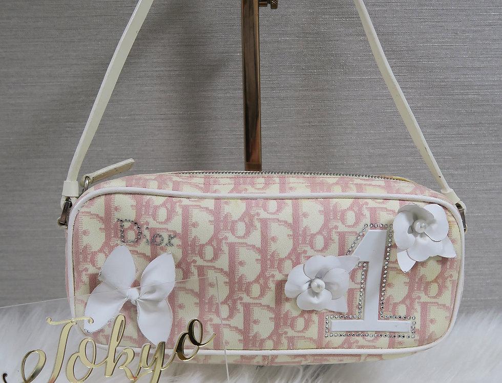 Christian Dior Pink & White Mini Girly Diorissimo Bag