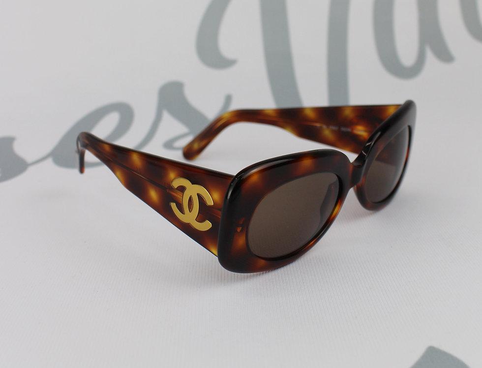 90s Chanel Tortoise Shell Look Frame Sunglasses