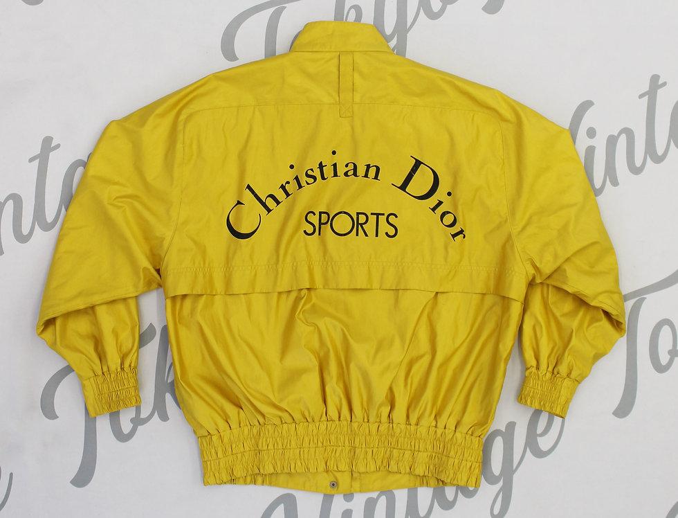 Christian Dior Sports Yellow Windbreaker Jacket Nylon