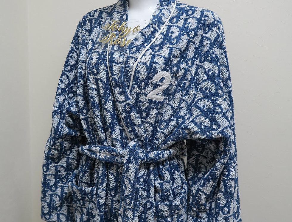 Christian Dior Trotter Logo Monogram Print Robe XL