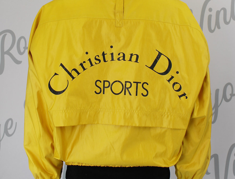 Christian Dior Sports Yellow Windbreaker Jacket Nylon