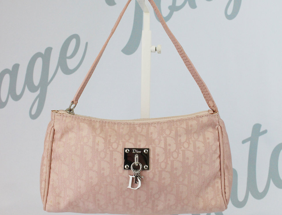 Christian Dior Pink Mini Bag Logo Monogram Trotter