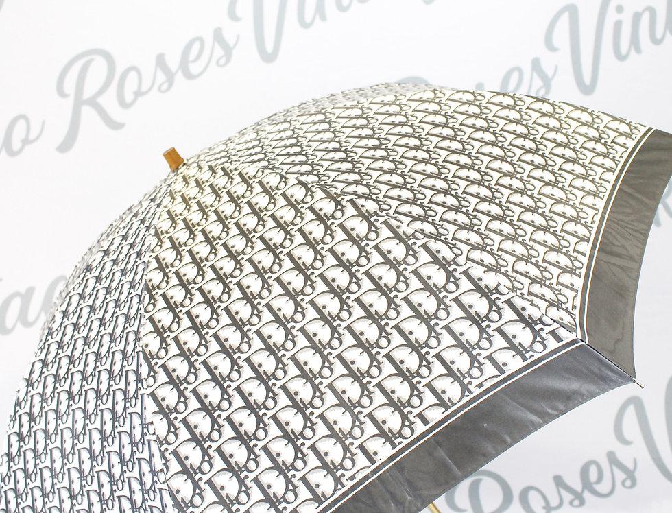 Christian Dior Logo Monogram Umbrella Grey
